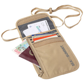 Sea to Summit Travell Light Neck Wallet sand